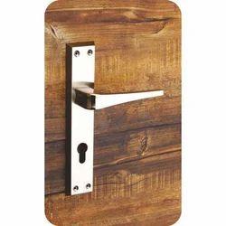 Brass Door Handle Lock, Chrome