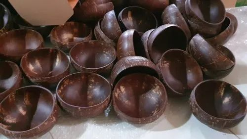 Brown Cocunut Shell Bowl