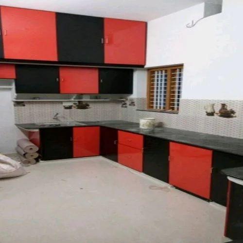 Classic Designer Modular Kitchen Rs 450 Square Feet Ns Aluminium