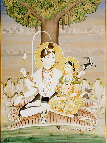 Lord Shiva Parvati Paintings | Art India International
