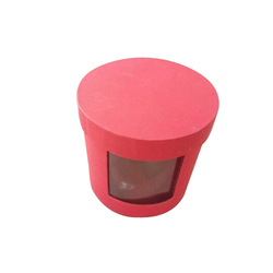 Red Round Chocolate Packaging Box