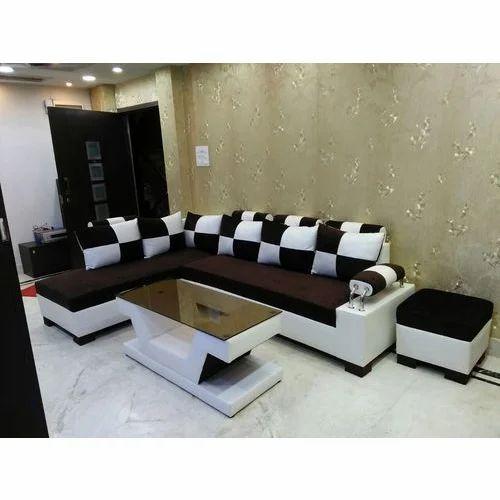 Wooden Brown White Corner Sofa Set Rs, Best Sofa Set Under 30000