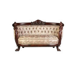 Living Room Wooden Sofa Two Siter
