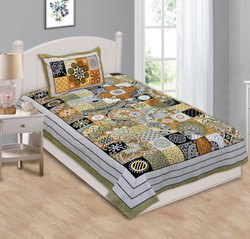 Elegant Print Cotton Bed Sheet for Single Bed