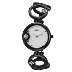 Black Rubees Ladies Stylish Chain Watch