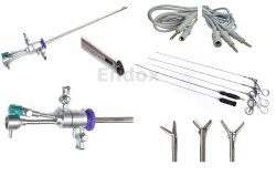 Office Hysteroscope Oprative Sheath 5 Fr. Hysteroscopic Instruments Electrodes Cable 8Pc