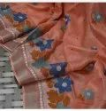 Computerized Embroidery Work On Linen Sarees