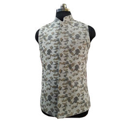 Mens Cotton Printed Party Wear Waistcoat, Size: 36 to 44 inch