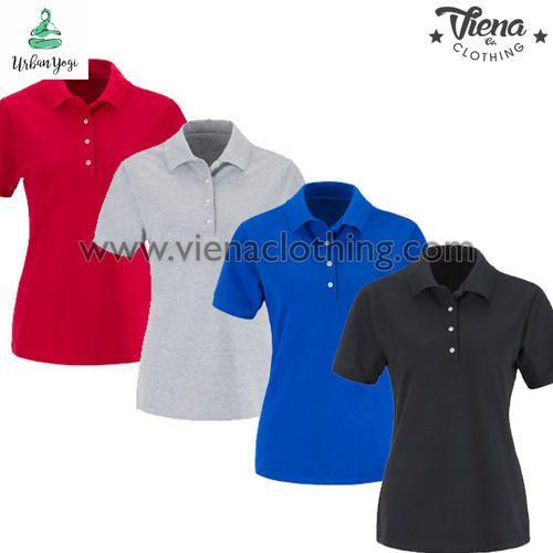 Cotton Ladies Plain Polo T Shirts 5799df9197