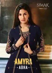 Glossy Simar Amyra Abha Gown Type Salwar Kameez