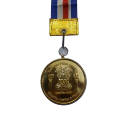 5 mm Round Gold Plated Medal
