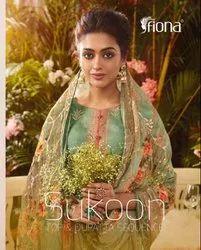 Fiona Sukoon Top And Dupatta Sequence Straight Salwar Kameez