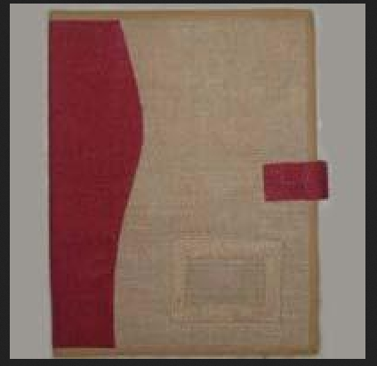 Cream Maroon Jute Folder
