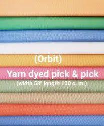 Yarn Dyed Pick & Pick Fabric( Orbit)