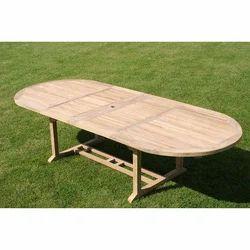 Raj Furniture Natural Wooden Main Table, For Restaurant