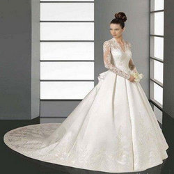 XL and XXL Embroidered Designer Bridal Dress