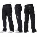 Black Mens Cargo Jeans