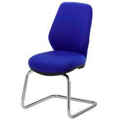 Armless Blue Office Chair