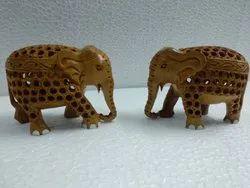 Wooden Handmade Elephant Show Piece