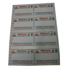 Dot Matrix Paper Labels