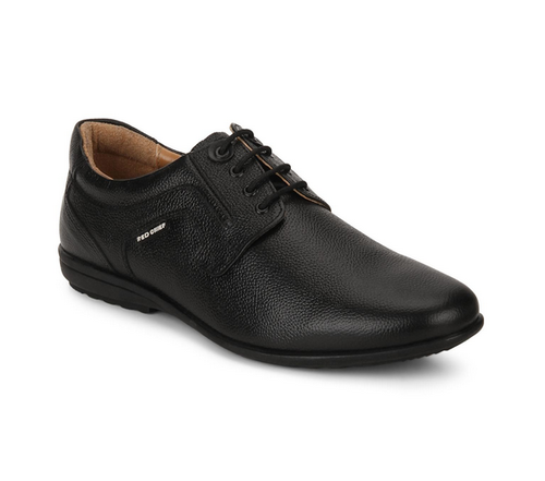 Red Chief Formal Derby Black Shoes For