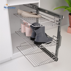 Frame Shoe Rack Pull Out Wire Base 450, Size: W414 X D510 X H700