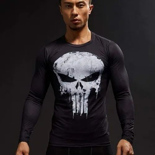 a00d9459 Polyester Printed Punisher Long Sleeve T Shirt, Rs 155 /piece   ID ...