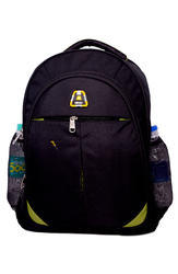 Polyester Black Plain College Bag