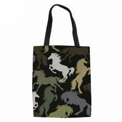 Printed Loop Handle Fabric Bag