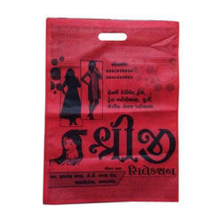Red Printed D Cut Non Woven Bag