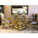 Royal Golden Chair Table Set
