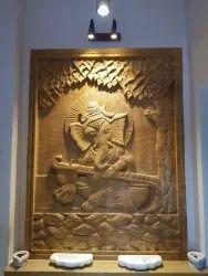 Ganesh Wall Mural Sandstone