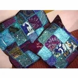 Beaded Patch Cushions