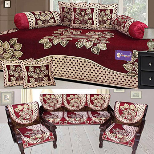 Floral Sofa Cover And Diwan Set Combo At Rs 1200 /pack