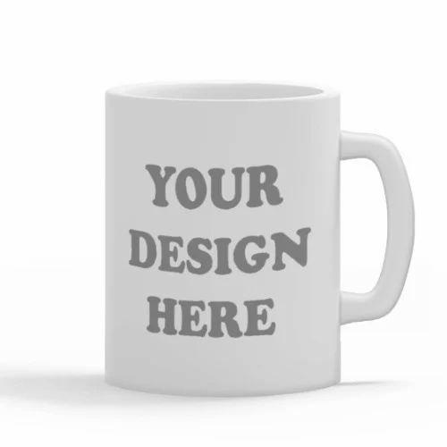 White Blank Coffee Mug Usage Home Office