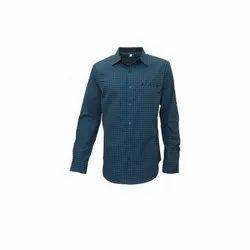 Darium Cotton Full Sleeve Mens Blue Casual Shirts, Machine wash