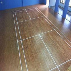 Brown Wooden Flooring Sports Flooring, Thickness: 4 Mm To 8 Mm, 1 To 5 Years