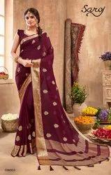 Ethnic Chiffon Silk Saree