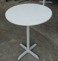 Round Restaurant Table Or Cafeteria Table