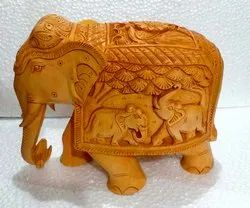 Wooden Carving Shikar Elephant