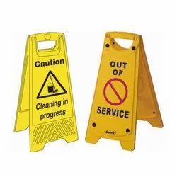 Rectangular Yellow Caution Signage, Dimension: Standard