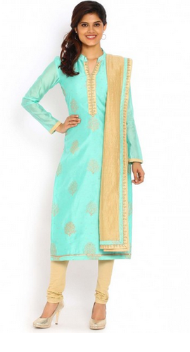 46ad38fd14 Sea Green And Gold Salwar Suit at Rs 4498 /piece | Ladies Salwar ...