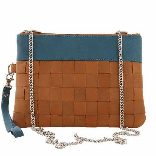 4de4e3a87e5 Genuine Leather Ladies Double Handle Small Shoulder Bag, Rs 1400 ...