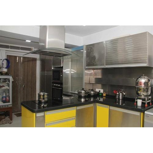 Residential Stainless Steel Modular Kitchen, Warranty: 1-5 Years
