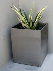 Stainless Steel Square Planters