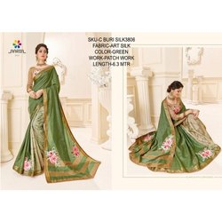 Ladies Green Art Silk Saree