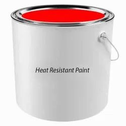 High Gloss Red Heat Resistant Paint, Liquid, Packaging Size: 10 Liter