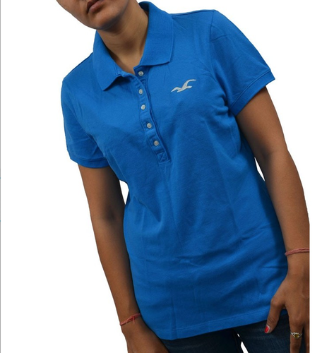 094d93e15 Hollister Women's POLO T-Shirt Top Blue at Rs 2665 /piece | Delhi ...