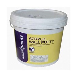 Asian Paints Acrylic Wall Putty, Packaging Type: Bucket, Packing Size: 40 Kg