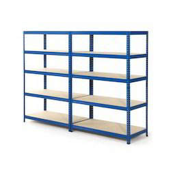 MS Slotted Angle Rack, for Supermarket